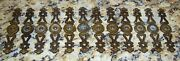 12 Ornate Antique Brass Backplates For Cabinet Door And Drawer Pulls Knobs Handles