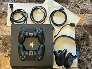 Playstation 4 Slim 1tb + Extras - Barely Used - 2 Games - Other Accessories