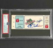 Kirk Gibson Signed 1988 World Series Ws Game 1 Dodgers Walkoff Hr Ticket Psa/dna