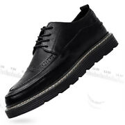 Mens Dress Shoes Wingtip Lace Up Leather Oxfords Brogues Casual Shoes Wedding