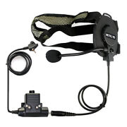 Tactical Ptt Headset Airsoft For Motorola Mtp850 Mth600 Mth800 Walkie Talkie
