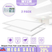 Rectangle 2x4ft 75watt Led Troffer Panel Lights Recessed Dropped Ceiling Fixture