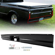 For 67-72 Chevrolet C10 Pickup Fleetside Rear Roll Pan With License Plate Lamps