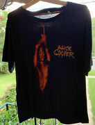 Vintage 80s Alice Cooper The Nightmare Returns Tour 1986-87 Band T Shirt Size Xl