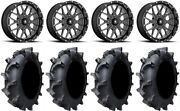 Msa Portal 18 Wheels Milled 33 Interforce 628 Tires Rzr Turbo S / Rs1