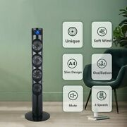 46 Oscillating Tower Fan And Timer 3 Speed Settings W/remote Control Air Cooling