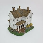 1998 Lang And Wise Town Hall Collectibles White Farmhouse John Sloan