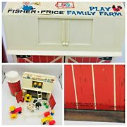 1967 Fisher Price Barn And Silo 4 All Wood Little People Accessories Animals Farm