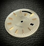 Rolex Dial Day-date 1800 1802 1803 Day Date Gold Botons Daydate Vintage Pie Pan