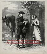 Country Doctor Making House Calls On Horseback1860s Antique Engraving Print