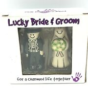 Lucky Bride And Groom Figurines Charmed Life Cake Topper Wedding Our Name Is Mud
