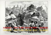 Indian Modoc Wars California Lava Beds National Monument 1870s Antique Print 2
