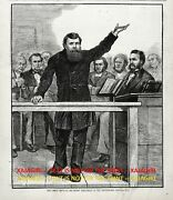 Religion Dwight Moody Preaching In Holiness Movement 1870s Antique Print
