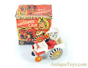 """Marx Tin Lithographed Windup """"sheriff Sam And His Whoopee Car"""" With Box"""