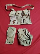 Lot Of 3 Molle Ii Dcu Pouches Bandoleer, Double Mag, Canteen Pouch