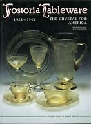 Fostoria Tableware 1924-1943 - Glass Patterns Etchings Cuttings / Book + Values