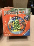 Christmas Tree Puzzle Ball 3d Round Ornament Ravensburger 60 Piece 3 Inches 2011