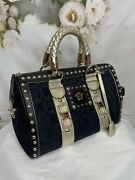 Gianni Versace Monograme Studded Snap Out Of It Bag Mint Condition Gorgeous2995