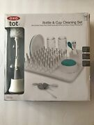 Oxo Tot Bottle And Cup Cleaning Set New Open Box Gray Bpa Free Brushes And Rack