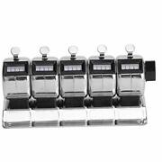 Mechanical Counter Metal Manual Clicker 4‑digit 5 Units Stainless Steel Tally...