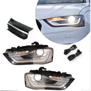 For Audi A4 2013-2016 Led Headlamps Led Drl Replace Oem Headlight Sequential
