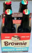 Brownie Caramel Cream Root Beer Soda, Since 1929, 12oz Glass Bottle, 4 Pack