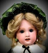 Rare 14 Jumeau 1907-4 Cabinet Doll - Bisque Head French Antique