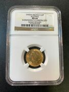 1955 Mexico Five Pesos Ngc Ms-66 - Gold Restrike - Carson City Hoard - Certified