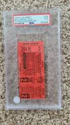 1972 Roberto Clemente Pittsburgh Pirates Final Home Game Ticket Pittsburgh Psa 2