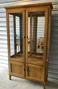 Rare Ethan Allen China Cabinet From Their Mid Century Modern Elements Collection