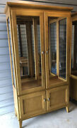 Rare Ethan Allen Elements China Display Cabinet Made In America