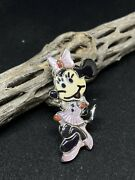 Collectors Zuni Minnie Mouse Mother Of Pearl Inlay Sterling Ring Size 7.25