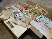 Huge Box Ww Stamp Junk Lot Includes Album, Souvenir Collectables, Covers, And More