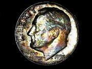 1955 P And D Low Mintage Silver Roosevelt Dime Raw Au Toned