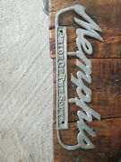 Rare Memphis Tennessee Tenn Tn License Plate Tag Topper Ad Sign Vtg Old Antique