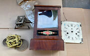 Lot Of Antique American Cottage Clock Parts- Jerome And Co