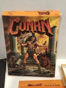 Conan 1985 Tsr Role Playing Game Boxed 7014 Set W/ Poster Manuals Folios