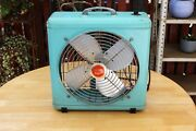 Vintage Western Auto Supply Wizard Electric 3 Speed 12 Fan Turquoise Very Good