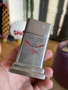 Zippo Barcroft Table Lighter American Gas Oil Company Can Vintage Mobil Standard