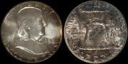 1958 Franklin Half Dollar Ngc Mint Set Toner Silver Us Old Type Coin Crusty