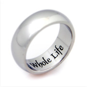 My Whole Heart For My Whole Life Stainless Steel Ring