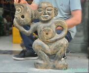 China Hongshan Culture Old Jade Handcarved Pig Dragon Yubi People The Man Statue