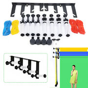 Photography 4-roller Wall Mounting Manual Background Support System Space Saving