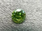 Natural Loose Diamond Vivid Green 1.50 Carat Si3 Round Cut For Jewelry-ring