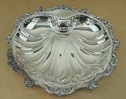 Vintage Epc Poole Old English Silverplate Footed Clam Dish, 5013