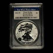 2013-w American Silver Eagle Two Coin Set Pcgs Graded W/ogp - Free Shipping Usa