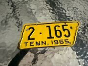 1965 Tennessee State Shaped Motorcycle License Plate Shelby Original Paint