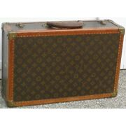 Vintage 20th France Original Small Louis Vuitton Leather Briefcase N ° 793918