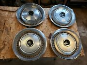 Nice Set Hubcaps 1973 1974 Lincoln Continental 15 Town Car Hub Caps 4 Pc