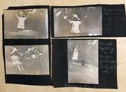 Lot Vintage 1911 Photos Child Lighting Firework 4th Of July America Pictures Usa